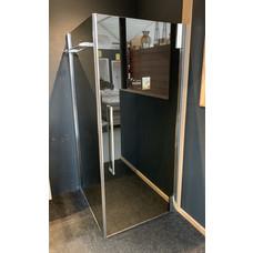 Sealskin Duka 2100 swingdeur met zijwand 90x195 incl handdoekhouder exclusief douchebak.(VERKOCHT)