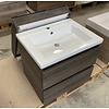 Primabad Badmeubel 60 cm breed met keramische wastafel inclusief spiegelkast.