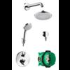 Hansgrohe Croma 160 showerset chroom met inbouwkraan, hoofd- en handdouche 26473000 OP=OP!