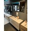 Badmeubel 120 x 45cm inclusief spiegel met verlichting.