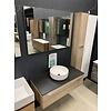 Thebalux Badmeubel 100 x 48,5 cm inclusief spiegel en hoge kolomkast.