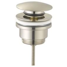 """Sanitairstunthal Pop up wastafelplug 1 1/4"""" 42mm.afsluitbaar rvs / brushed nickel"""