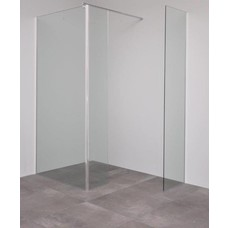 Sanitairstunthal Inloopdouche met zijpaneel 110 + 30 x 200 cm en los deel van 45 cm breed