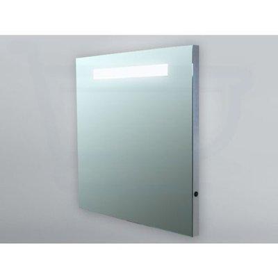 Sanitairstunthal spiegel 60 x 70 cm aluminium met indirecte verlichting