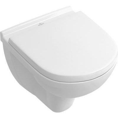 Villeroy en Boch O.Novo verkort wandcloset met soft close en afneembare toiletzitting wit