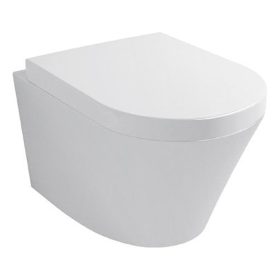 Sanitairstunthal design wandcloset wit inclusief soft close en afneembare toiletzitting