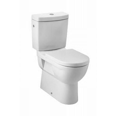 Sanitairstunthal verhoogd duobloccloset pk +8 cm wit compleet met softclose toiletzitting