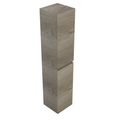 Sanitairstunthal Just hoge kast 35x35x170 cm.met 2 deuren li. of re. zilver eiken