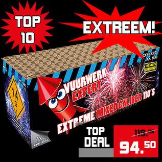 Vuurwerkexpert Extreme Mixed Caliber 110'S