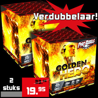 Geisha PyroRebels Golden Hero