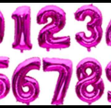Verjaardagsballon (35cm) ROZE
