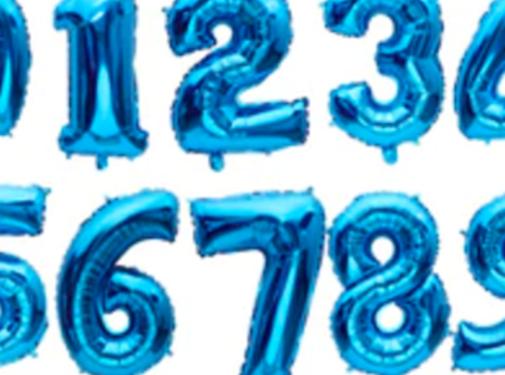 Verjaardagsballon (35cm) BLAUW