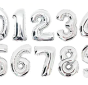 Verjaardagsballon (35cm) ZILVER