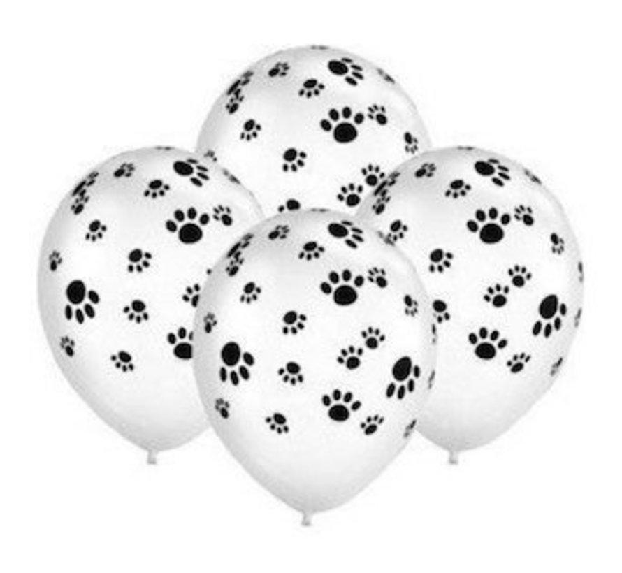 Ballonnen met Hondenpootjes