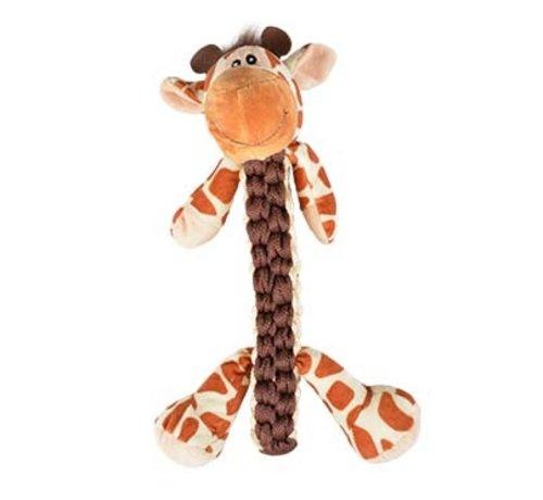 Duvo+ Zoo friends gino giraf stick Bruin 32x22x11,5cm