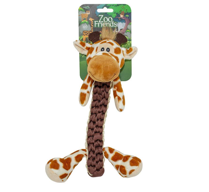 Zoo friends gino giraf stick Bruin 32x22x11,5cm