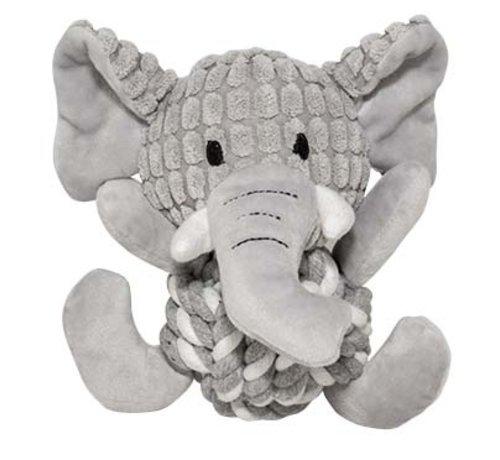 Duvo+ Zoo friends elsa olifant bal Grijs 18x19x12cm