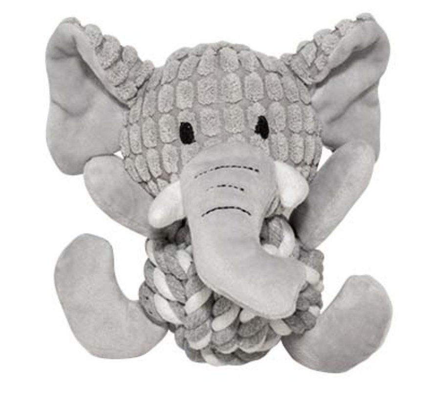 Zoo friends elsa olifant bal Grijs 18x19x12cm