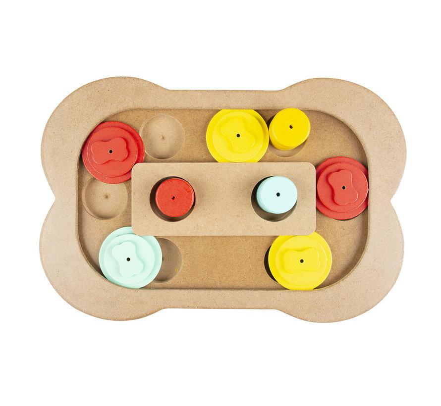 Slide `n snack puzzle - been Meerkleurig 28x19x2,5cm