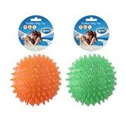 Tpr egelbal drijvend Oranje/groen 12cm