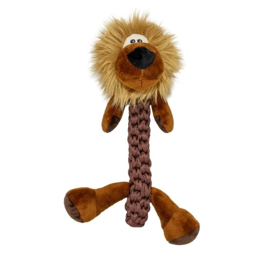 Zoo friends Leo leeuw stick 32x22x11,5cm bruin
