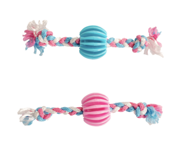 Duvo+ Puppy snackbal met katoen touw 30cm