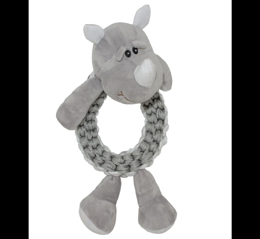 Zoo friends Rain neushoorn ring 32x19x10cm grijs