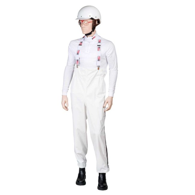 Mira Rain trousers high with suspenders