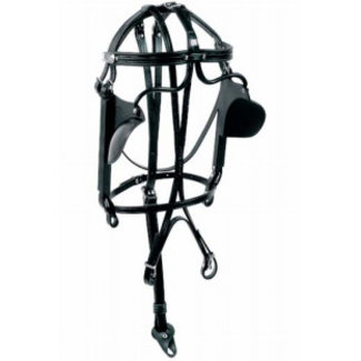 Racing Tack Bridle leather with round blinds RT