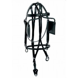 Racing Tack Bridle leather with square blinds RT