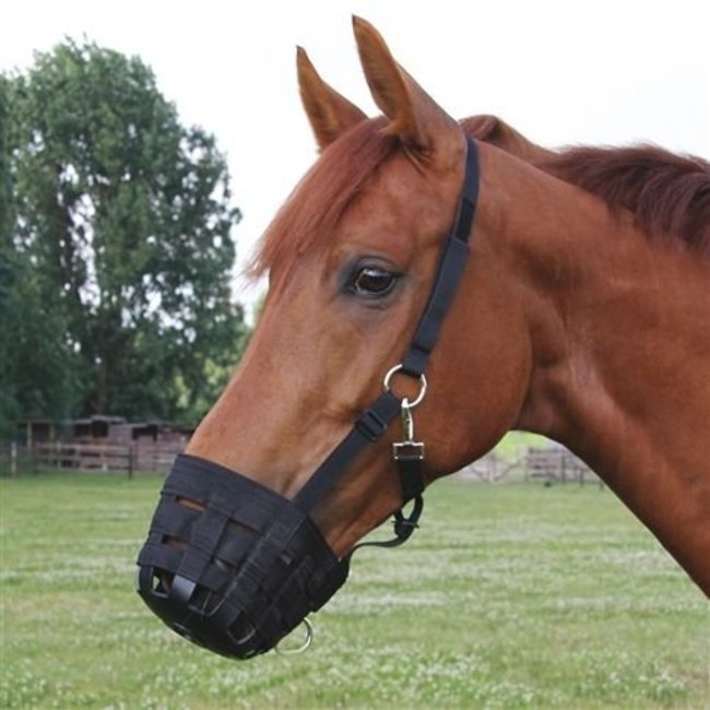 FinnTack Horse muzzle, anti grazing synthetic