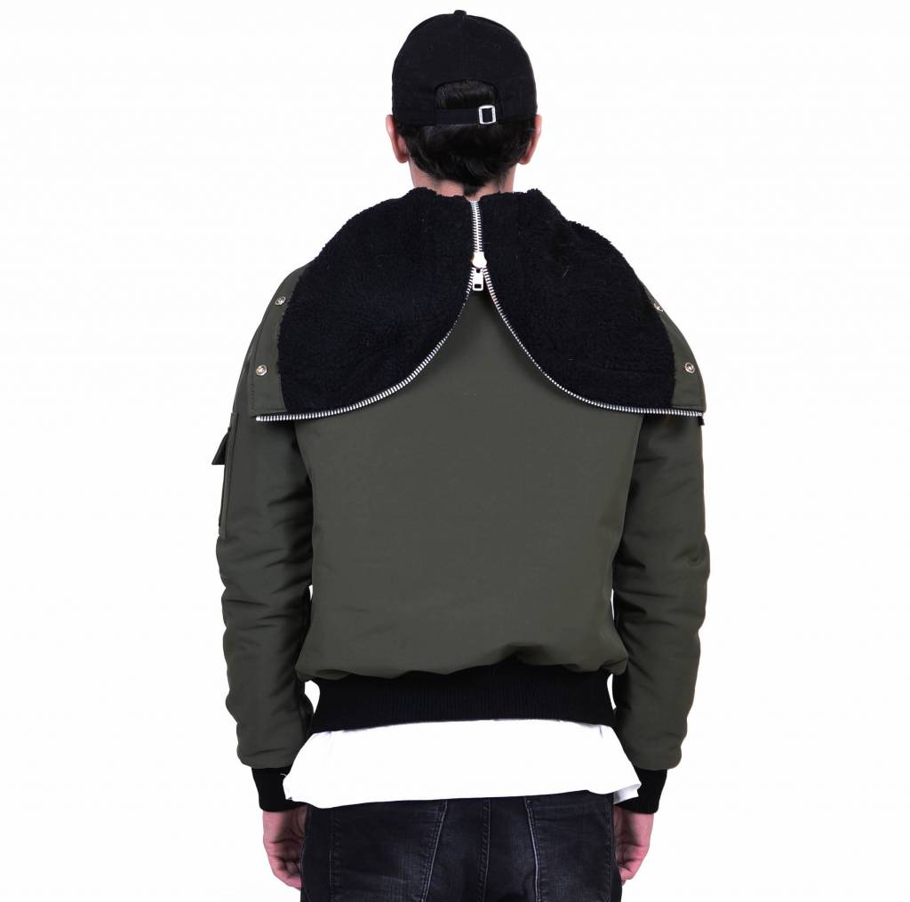 Military Green Winter Bomber