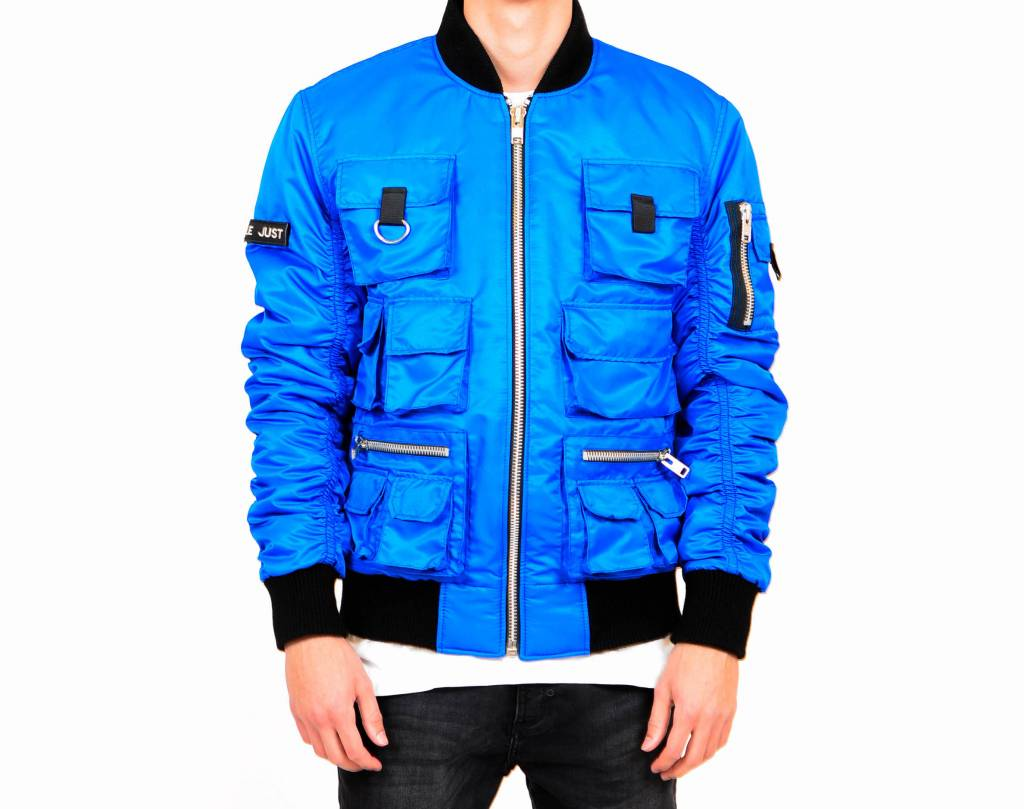 Blue Multi-Pocket Bomber