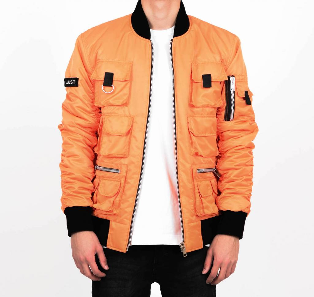 Orange Multi-Pocket Bomber
