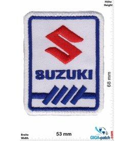Suzuki Patch -S Suzuki   - white blue