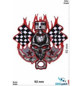 Cafe Racer Skull Race