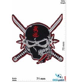 Nija Ninja -  Skull - black red