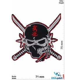 Nija Ninja - Totenkopf - schwarz rot