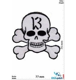 Lucky 13 Lucky 13 - Skull - white