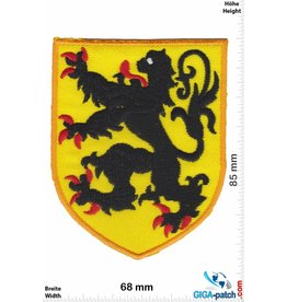 Deutschland, Germany Coat of arms with leon - black yellow