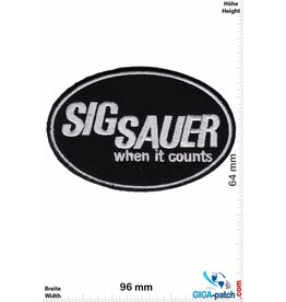Sig Sauer Sig Sauer - when it counts - schwarz