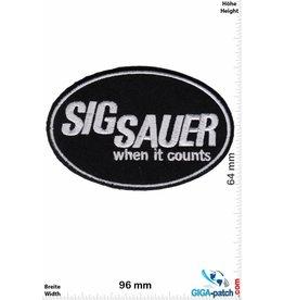 Sig Sauer Sig Sauer - when it counts - schwarz
