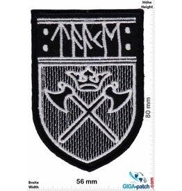 Wikinger Mjölnir - rot - Wikinger - Viking - Wappen - Loki Odin