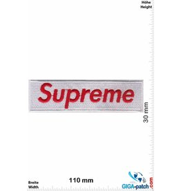 Supreme Supreme red / white