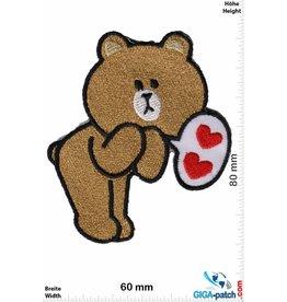 Line Line Bear - Heart