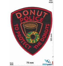 Donut Donut Police - Top Protect the Donuts - black