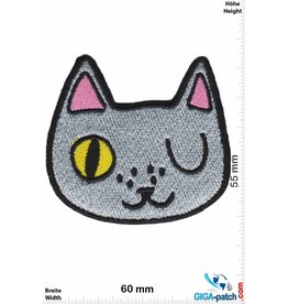 Cartoon Silver Cat - Head