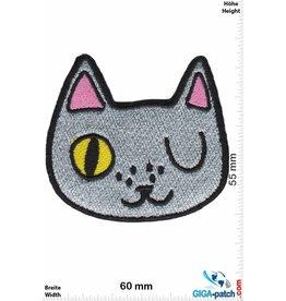 Cartoon Silver Cat - Kopf