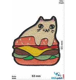 Cartoon Burger Cat - Katze