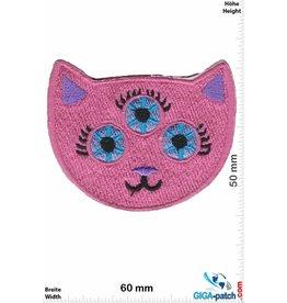 Cartoon Pink Cat - Kopf